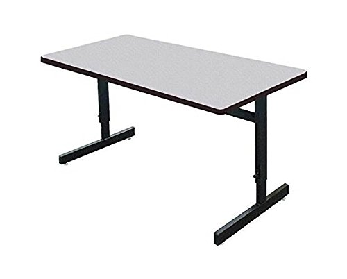 Correll CSA3072M-15 Adjustable Height School/Office/Computer and Training Table, Malamine Top, 30