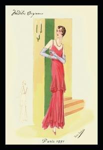 Scarlet Evening Gown Framed 20