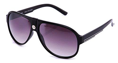 IG Plastic Two Tone High Fashion Aviator Style Sunglasses in - Two Sunglasses Tone