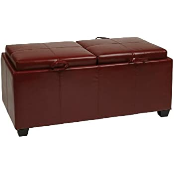 Amazon Com Office Star Metro Storage Ottoman Bench With