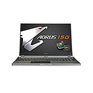 [2020] Gigabyte AORUS 15G WB-8US2130MH 15.6 Thin Bezel Gaming Laptop 240Hz FHD IPS LCD, i7-10875H, NVIDIA GeForce RTX2070 Max-Q, 16GB RAM, M.2 PCIe 512GB SSD, Win 10 Home, 15-15.99 inches