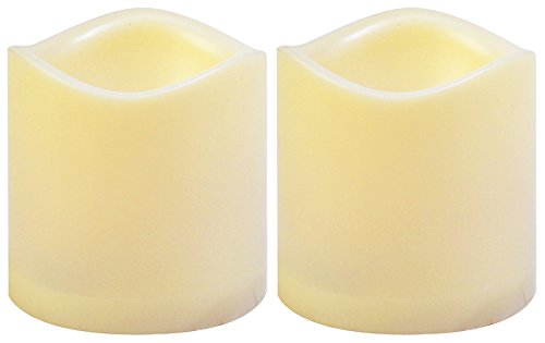 2-Pack - Moonrays 93102 Flameless Flickering 3 x 3 Pilar Candle