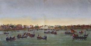 Pl. 42 Le Kaire: Vue de la Place Ezbekyeh; cote de l'ouest et du nord-ouest from Description de l'Egypt ou Recueil des observations qui ont été faites pendant l'expédition de l'armée française