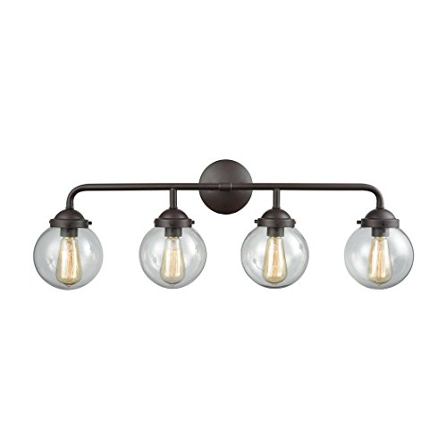 Elk Lighting CN129411 Beckett 4-Light for The Bath in Oil Rubbed Bronze Vanity Wall Sconce ()