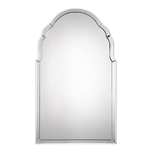 MY SWANKY HOME Gorgeous Frameless Venetian Arch Wall Mirror | Vanity Curved -