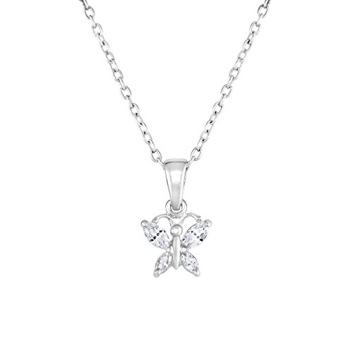 Butterfly Pendant Sterling Simulated Birthstone product image