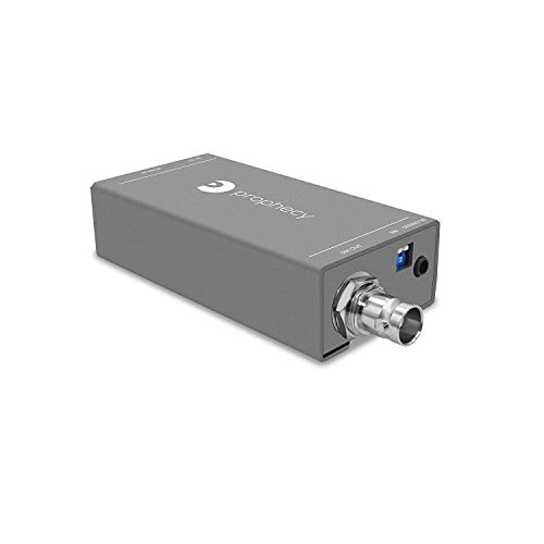 gofanco Prophecy HDMI to SDI Converter with Audio Embedder - 3G/HD/SD-SDI Auto Format Detection, Stereo Audio Embedder (Pro-HDSDIaud)