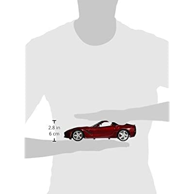 Maisto 2014 Corvette C7 Diecast Model Car in Red 1:18 Scale: Toys & Games