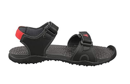 Gempen M Cblack/Scarle/Grefiv Sandals