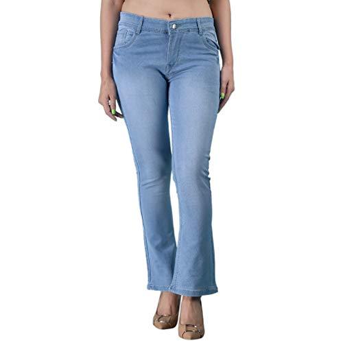 DRRAGON Women Boot Cut Light Blue Jeans