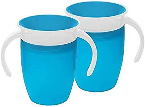 Vaso entrenador 360 color azul de la marca Munchkin Miracle azul Blue (2 Pack): Amazon.es: Bebé
