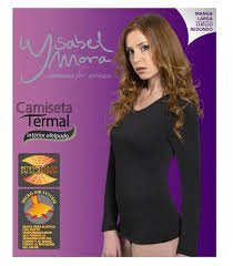 8444a4f1c0 Ysabel mora Camiseta Térmica Mujer Cuello Redondo Blanca Talla L ...