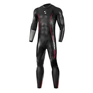 Synergy Triathlon Wetsuit – Men's Adrenaline Full Sleeve Smoothskin Neoprene for Open Water Swimming Ironman & USAT…