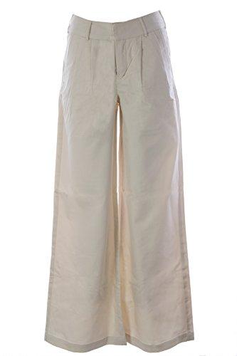 Blue Blood Women's Loon SCG Wide Leg Dress Pants 27W x 32L Cream (Cream Dress Pants)