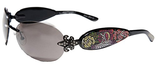 ED HARDY SUNGLASSES EHS 014 BLACK - Hardy Sunglasses