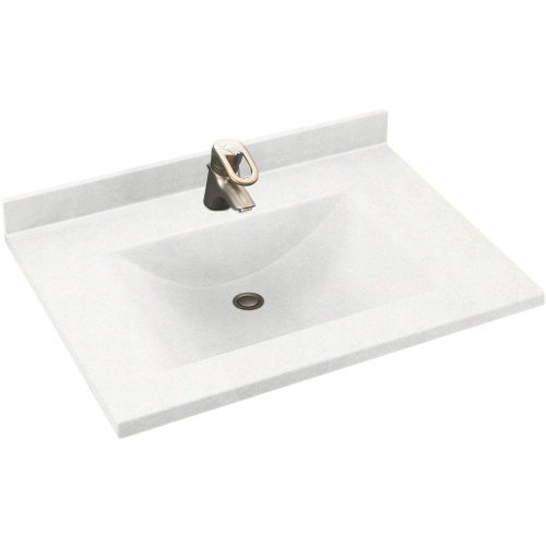 Swanstone CV02231.051 Contour Solid Surface Single-Bowl Vanity Top, 31-in L X 22-in H X 6.25-in H, Tahiti Sand (Sand Swanstone Vanity Top)