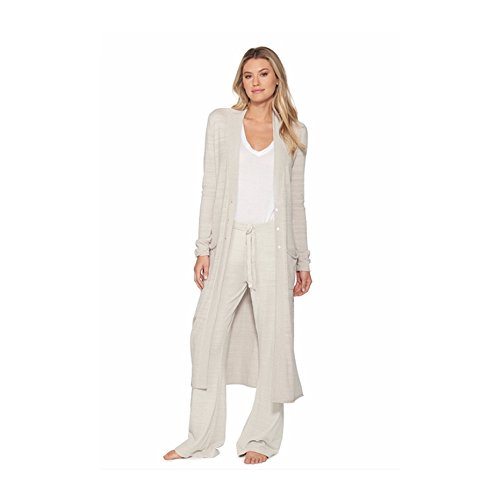 Barefoot Dreams CozyChic Ultra Lite Women's Duster, Long Sleeve, Open Front Long Maxi Cardigan Duster With Two Pockets-Fog Gray by Barefoot Dreams