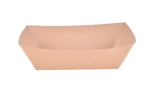 Southern Champion Tray 0525 #300 ECO Kraft Paperboard Food Tray / Boat / Bowl, 3-lb Capacity (Case of 500)