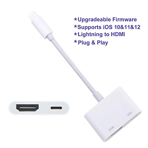 ENBIA HDMI Digital AV Adapter Compatible with iPhone iPad iPod, HDMI Cable Adapter,Work with Projector Monitor Display HDTV ()