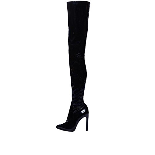 Jeffrey Campbell Sherise, thigh high boot, black