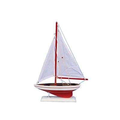 "Hampton Nautical Pacific Sailer Sailboat, 17"", Red: Toys & Games"