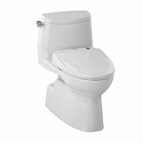 TOTO MW614584CUFG#01 WASHLET+ Carlyle II 1G One-Piece Elongated 1.0 GPF Toilet and WASHLET S350e Bidet Seat, Cotton White