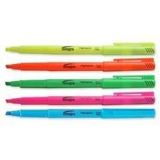 Integra Pen Style Highlighter, Chisel Point, Fluorescent Green (ITA36185) by Integra