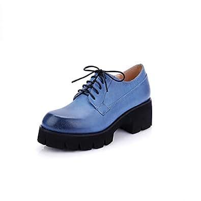 BalaMasa Womens Solid Travel Huarache Blue Urethane Pumps Shoes APL10599-4.5 B(M) US
