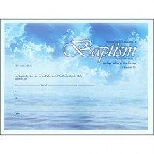 Certificate of Baptism - 2 Corinthians 5:17 (6 Pack)