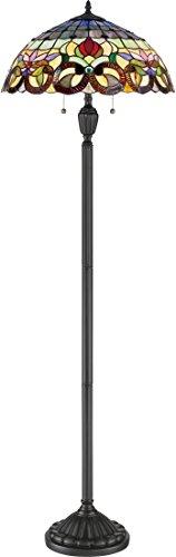 Quoizel TF3180FVB Lyric Flower Tiffany Floor Lamp, 2-Light, 200 Watts, Vintage Bronze (62