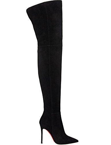 5 Eu41 Casual Black Negro La Botas U 5 10 Stiletto Uk4 us9 Eu36 Cn42 Vellón Tacón Black Mujer us6 De Noche Y Vestido Puntiagudos Moda Fiesta Uk7 Xzz Zapatos 8 Cn36 A PT1qg