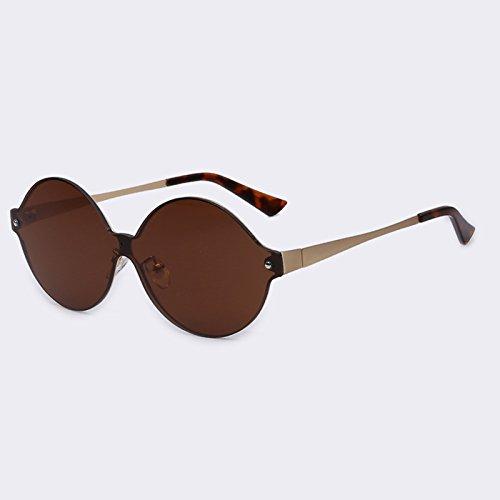 redondo de C02Brown bastidor espejo sol de sol UV400 C04rojo gafas de revestimiento forma TIANLIANG04 atrás Gafas metálico Vintage de xRvYYw