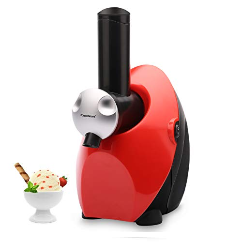 Excelvan Homemade Automatic Healthy Frozen Fruit Ice Cream Dessert Maker Electric Machine, Yogurt and Sweet Treat Smoothie Maker Blender, Red