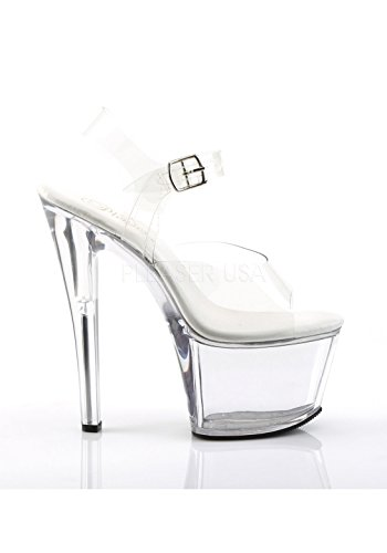 Dress Platform SKY308VL Clear Women's C Sandal Clear Pleaser M qxAXIA5