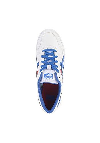 Onistuka Tiger Aaron - Zapatos de baloncesto de material sintético unisex Wei/Blau/Rot