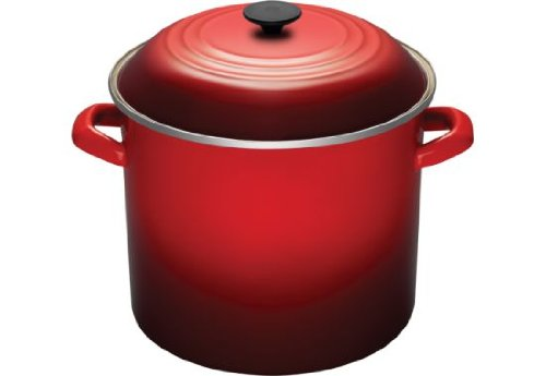 Le Creuset Enamel-on-Steel 16-Quart Covered Stockpot, Cerise (Cherry Red) by Le Creuset