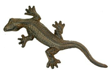 Cast Iron Gecko Figure Set of 2