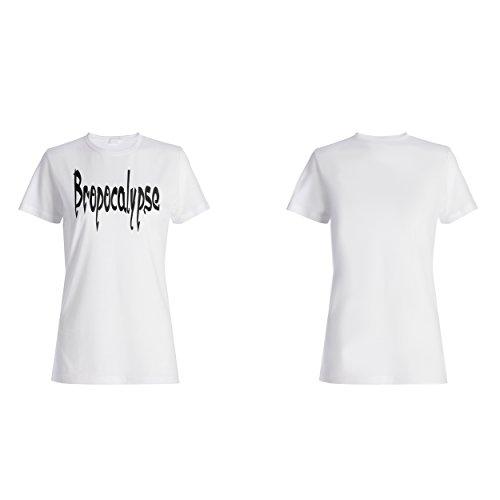 Bropocalypse lustige Neuheit Damen T-shirt d415f