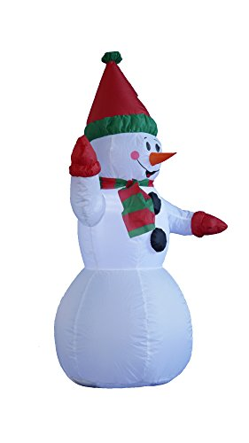 4 Foot Christmas Inflatable Snowman Yard Garden Decoration by BZB Goods (Image #2)