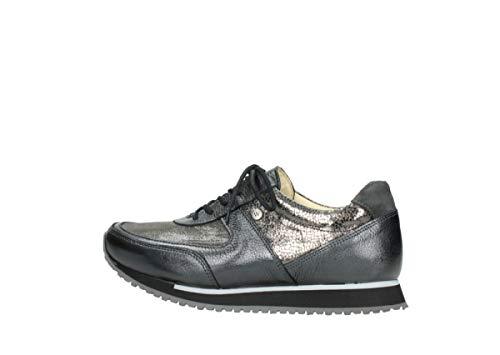 Mujer Cordones Leder De 70100 Zapatos Anthrazit Wolky Cuero Stretch Para 86210 05806 1I0qwxZ