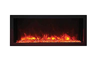 Amantii Panorama Indoor/Outdoor Extra Slim Built in Electric Fireplace (BI-30-XTRASLIM), 30-Inch