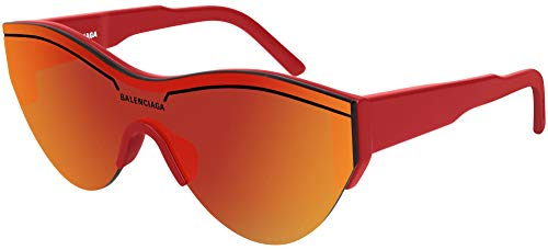 Balenciaga BB0004S Sunglasses 003 Red/Red Mirror(Double) Lens 99 mm