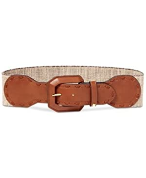 Lauren Ralph Lauren Leather Stretch Belt Natural Tan XL