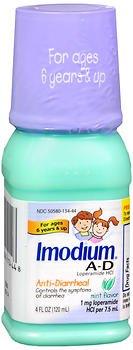 Imodium A-D Liquid for Children Mint Flavor - 4 oz, Pack of (Imodium Ad Liquid Mint)