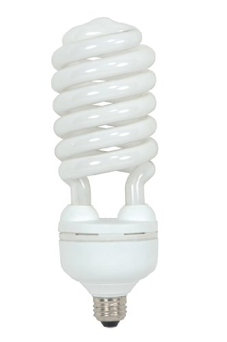 Satco S7339 55 Watt (250 Watt) 3700 Lumens Hi-Pro Spiral CFL Daylight White 5000K Medium Base 120 Volt Light Bulb (Cfl 55w)