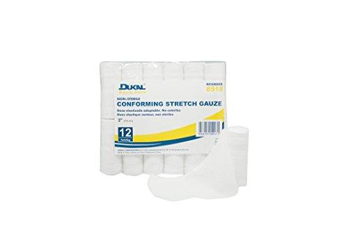 Stretch Non Bandage Sterile Gauze (DUKAL 8518 Basic Care Conforming Stretch Gauze Bandage, 3