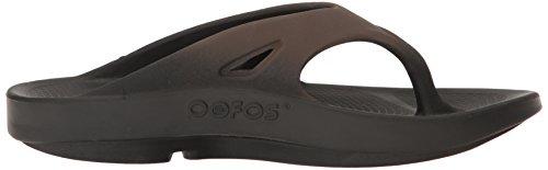 Oofos Unisex Ooriginal Sport Thong Flip Flop Zwart / Bruin