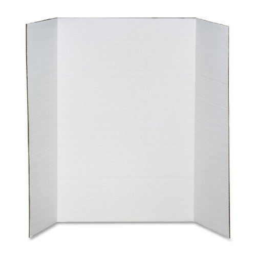 Elmer's Heavy-Duty Tri-Fold Display Boards, 36 x 48 Inches, White, 12-Count (730190)