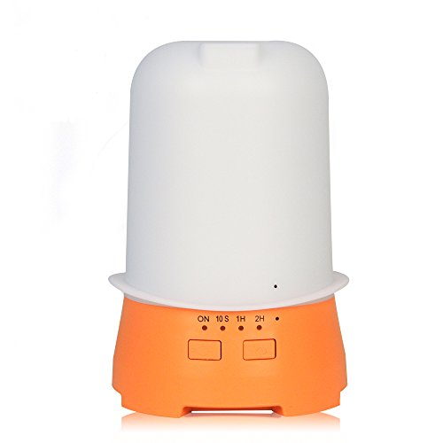 - YCTA 120ML Essential Oil Diffuser,Ultrasonic Aromatherapy Cool Mist Humidifier with 7 Vibrant Changeable LED Lights Top Hat Shape Bedroom Humidifiers for Kids Baby Office (Orange)