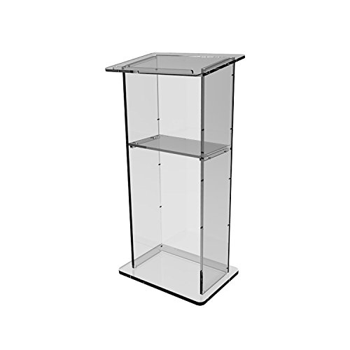 FixtureDisplays Clear Acrylic Lucite Podium Pulpit Lectern 45'' Tall 1803-2-FBA by FixtureDisplays